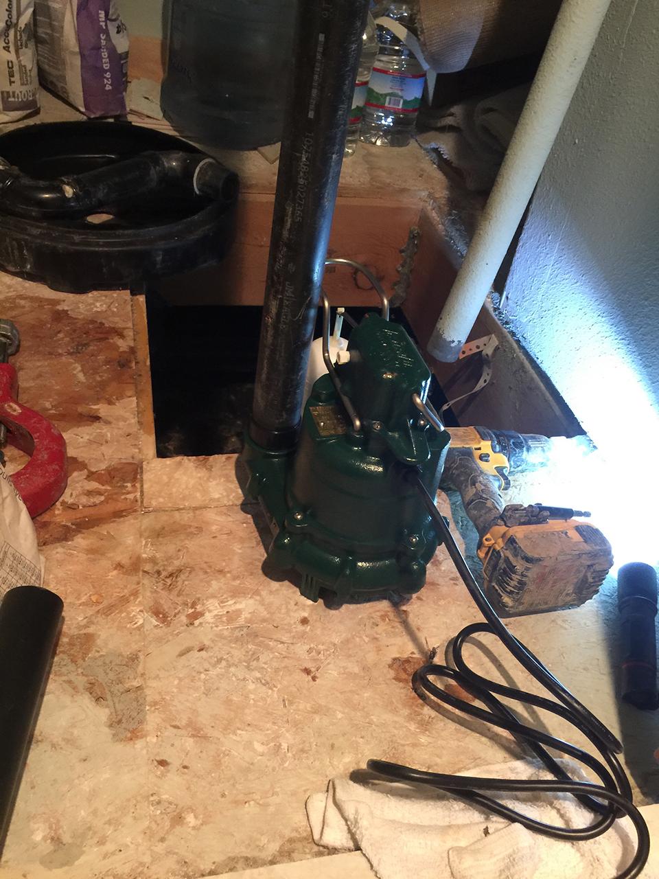 sump pump replacement parker co