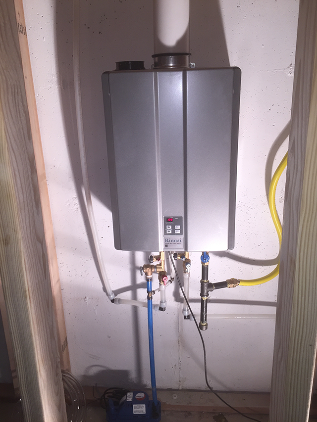 Mounting Tankless Water Heater : Tankless water heater install arvada co repair